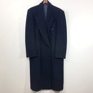 Baroncelli | Mens Wool/Cashmere Blend Pea Coat